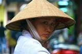 Hanoi - Woman with non ba tam