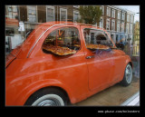 Pizza delivery by Fiat 500, Notting Hill, London
