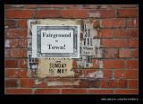 Fairground Advert, Beamish Living Museum