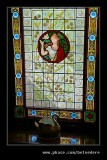 Stained Glass Window, Music Teacher's House, Beamish Living Museum