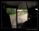 Tram #34 passing Racecourse Colliery, Black Country Museum