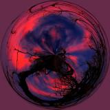 Scraggy Tree Sunset Circle