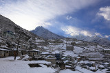 Namche after a snowfall