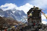 Lhotse and climbers memorial
