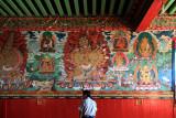 Mural inside Thuptenchholing Ghompa
