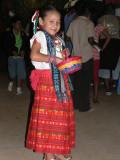 This little girl has the festival spirit