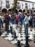 Life-sized chess match