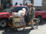 Bicycle vendors are a common sight