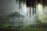 Gazebo In Night Fog 16378-83 Art