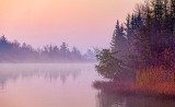 Misty Rideau River At Dawn 20111102