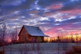 Log House At Sunrise 20111104