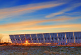 Solar Array At Sunrise 20111217