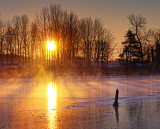 Freezing Rideau Canal Sunrise 20111224