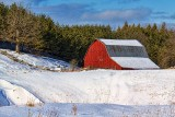 Red Barn In Winter 20120205
