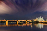 Railway Bridge At Night 22586
