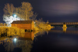 Boathouses At Night 22585