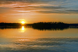 Otter Lake Sunset 23163