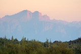 Superstition Mountain In Smog 80046