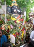 Elephant-faced titan Gajamukha. 1st manifestation of Surapadman. Skanda Sashti at Tiruchendur.