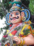 The 3rd transformation the demon, Surapadman himself, starts a new attack. Skanda Sashti at Tiruchendur.