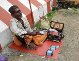 Fortune teller in Nagercoil, Tamil Nadu. What will the cards tell us?