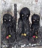 Voodoo. Fetish priests in Ghana.