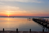sunset over chincoteague bay