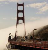 Rushing fog over the Golden Gate Bridge