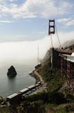 Rushing Fog Through the Golden Gate Bridge