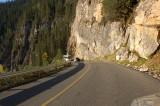 Road to Takakaw Falls