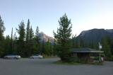Johnston Canyon parking area
