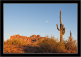 Superstition Mountains Moon Shot