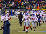 The New York Giants take the field.