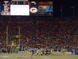 The Green Bay Packers take the field.