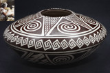 Hopi Awatovi Star Patern Seed Pot (Feather Woman)