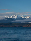 Olympic Mountains over Hood Canal (actually a natural fjord, not a manmade canal)
