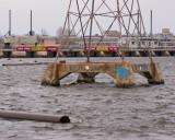 Rivière des Outaouais, à la hauteur des rapides de la Chaudière