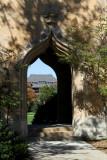 Catt Hall through Campanile Entry in Shadow