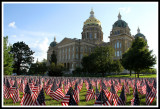 Iowa Capital and Flags of Remembrance