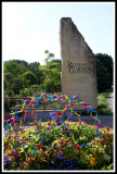 Rieman Gardens Sign and One Planter