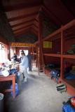 Inside the Piedra Grande hut.