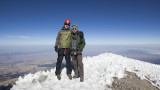Steven and me on the summit.