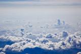 Clouds below.