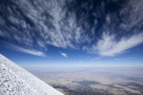 Awesome high altitude clouds above.