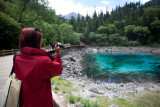 Colourful lake in Jiuzhaigou