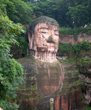Giant Buddha in Mishan outside Chengdu
