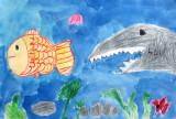 fish, James, age:5