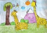 giraffe, Elaine, age:5