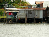 One of the houses in Mengkabong Water Village