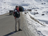 Dave outside the Salang Tunnel